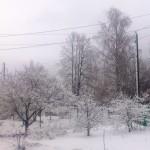 апрельский снег